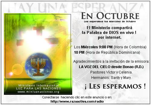 Invitación a progrma Radial en Octubre